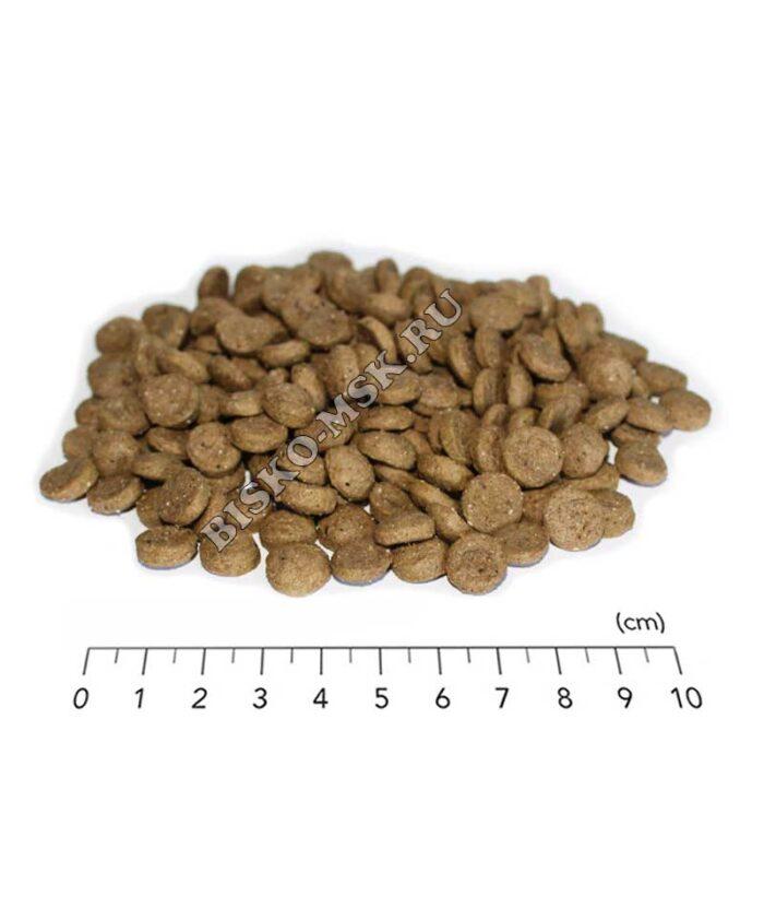 Размер гранул корма для кошек Биско с говядиной