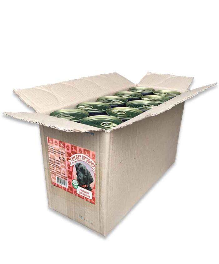 Консервы для щенков Ем Без Проблем с говядиной, 20 шт. (упаковка)
