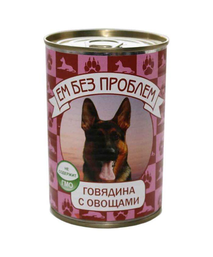 Консервы для собак Ем Без Проблем Говядина с овощами, 410 г
