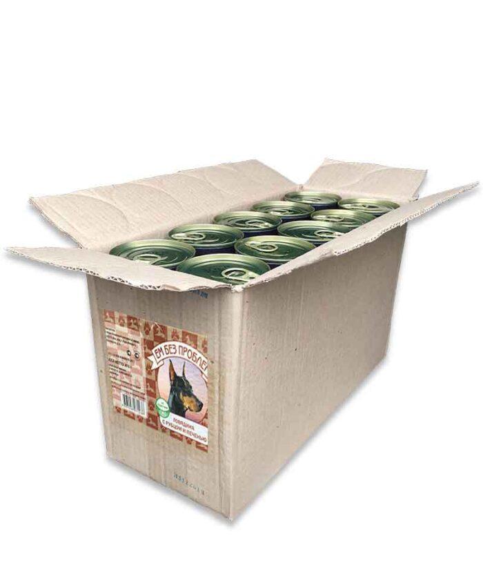 Консервы для собак Ем Без Проблем Говядина с рубцом и печенью, 410 г упаковка (20шт)