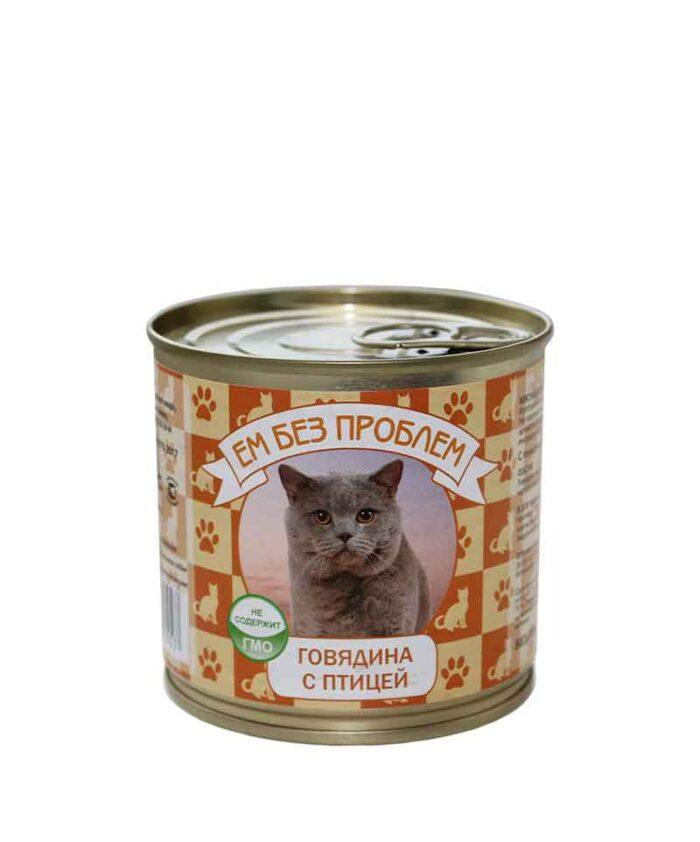 Консервы для кошек Ем Без Проблем Говядина с птицей, 250 г