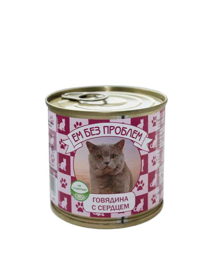 Консервы для кошек Ем Без Проблем Говядина с сердцем, 250 г
