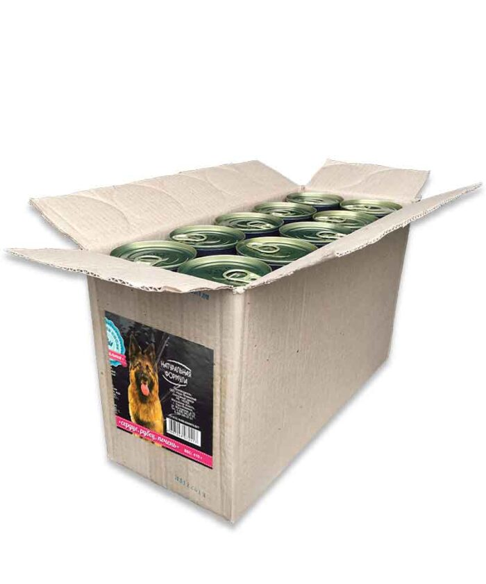 Консервы для собак Натуральная Формула Сердце, рубец, печень, 410 г упаковка (20 шт)