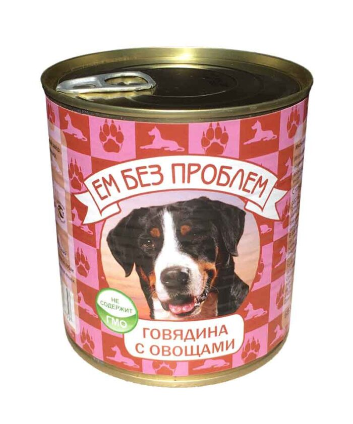 Консервы для собак Ем Без Проблем Говядина с овощами, 750 г