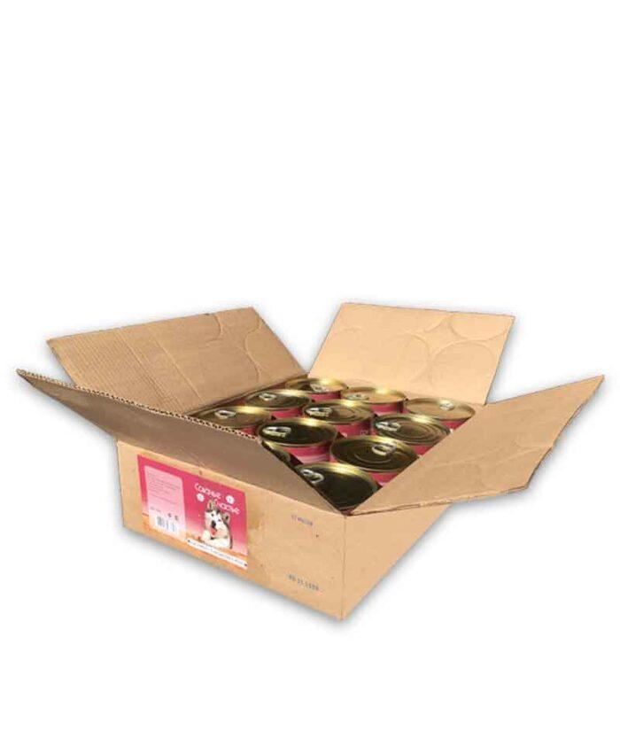 Консервы для собак Собачье Счастье Баранина с потрошками в желе, 750 г (упаковка 12 шт)