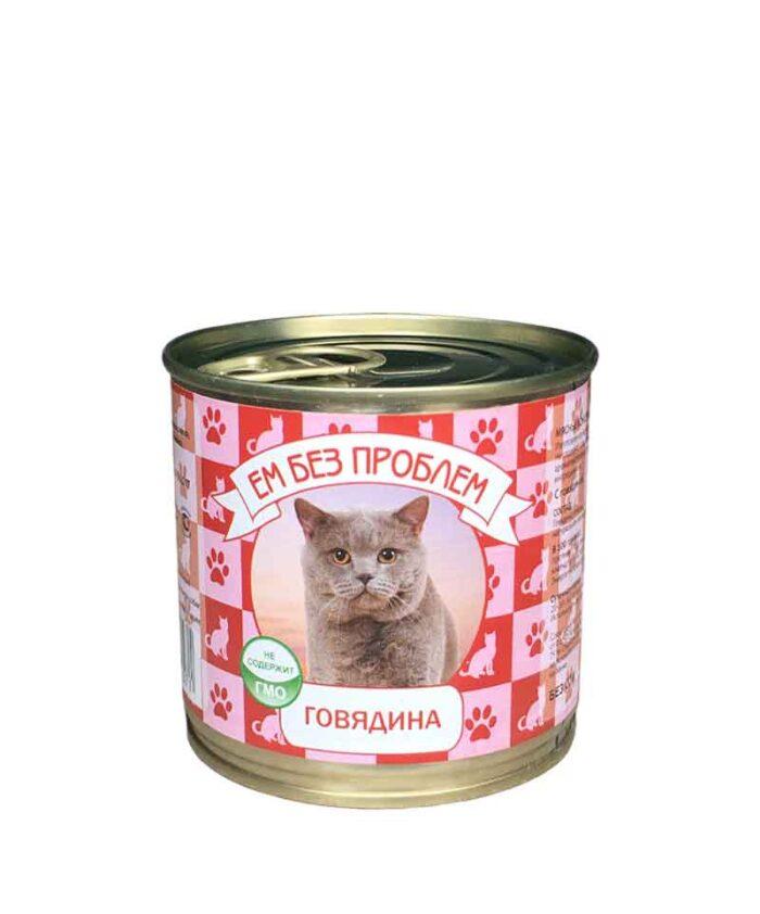 Консервы для кошек Ем Без Проблем Говядина, 250 г